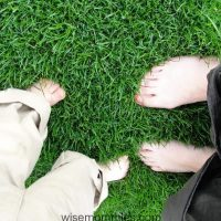 Walking Barefoot on Grass