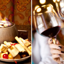 $45 – Simply Fondue: 4-Course Dinner for 2 w/Wine, Reg. $98