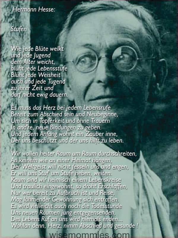 Hermann hesse gedicht stufen interpretation