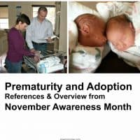 Prematurity and Adoption References