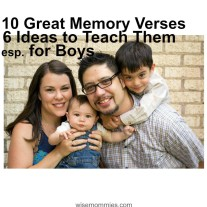 10 Great Memory Verses for Boys & How to Teach Them