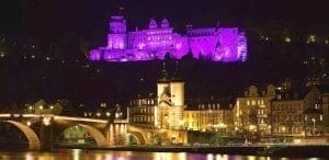 Why Purple? Heidelberg Castle, Germany