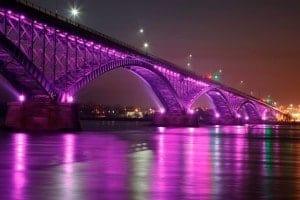 Why Purple? Peace Bridge, NY