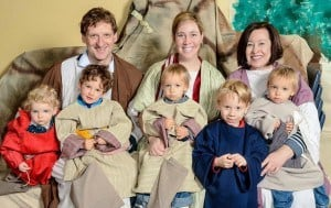My mom and boys along with another family friend from Germany: Live Nativity Scenes in DFW
