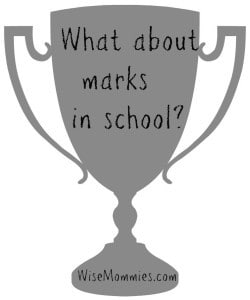 trophy marks in school with logo