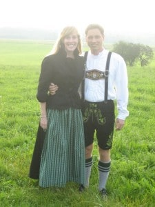 My German husband and I at his sister's wedding in Bavaria, Germany