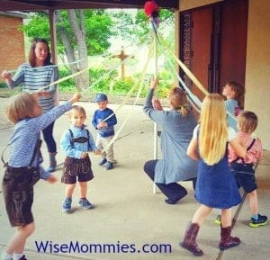 Dancing around the May Pole #Maibaum