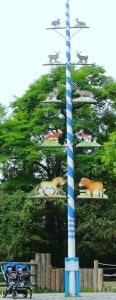 Maypole at a zoo in Germany with my twins nearby. It was too high for me to get the whole pole in the picture