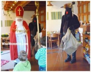 My Nephews in Bavaria, Germany, 2015, getting a visit from St. Nikolaus & Krampus at their home!!