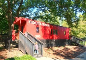 caboose at Pullen Park