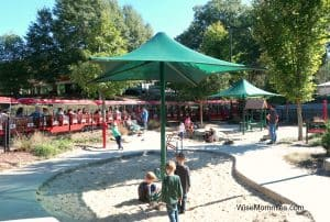 Train and sand area at Pullen Park