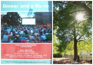 dinner and movie pullen park