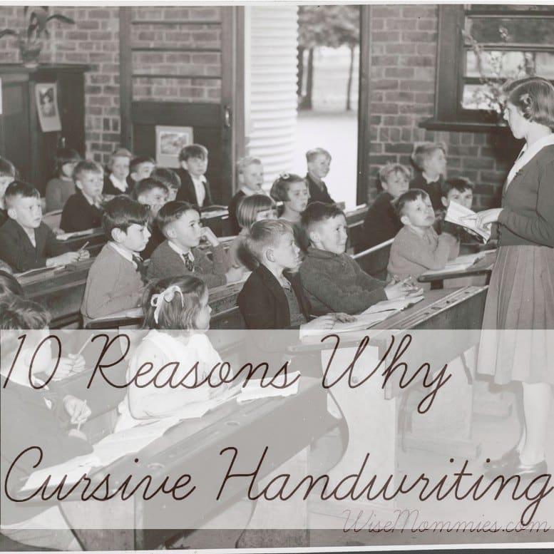 cursive handwriting why